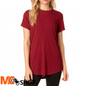 FOX LADY RESOUNDING DARK RED T-SHIRT