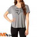 FOX LADY RESPONDED HEATHER GREY T-SHIRT