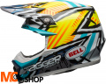 BELL MOTO-9 TAGGER YELLOW/BLUE/WHITE Kask Off-road
