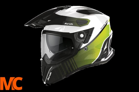 AIROH KASK INTEGRALNY COMMANDER PROGRESS LIME GLOS