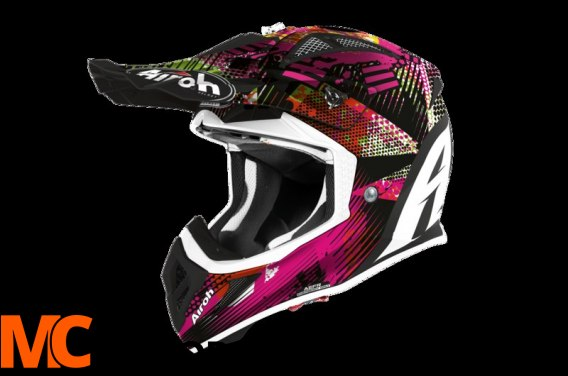 AIROH KASK OFF-ROAD AVIATOR ACE INSANE MATT
