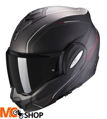 SCORPION KASK INTEGRALNY EXO-TECH T MATT BLACK-RED