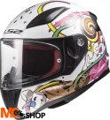 KASK LS2 FF353J RAPID MINI CRAZY POP WHITE PINK