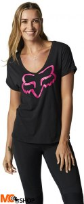 FOX T-SHIRT LADY BOUNDARY BLACK/PINK